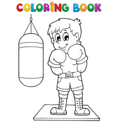 Coloring book sport and gym theme 1 vector