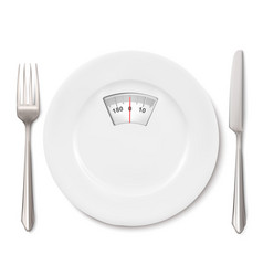concept of dietscale instead of a meal on plate vector image