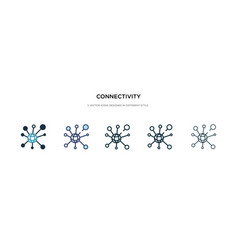 connectivity icon in different style two colored vector image