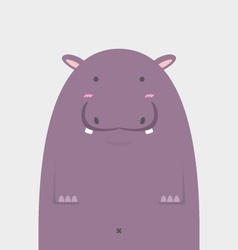 cute fat big hippopotamus vector image vector image