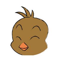 Cute little chick baby animal bird cartoon vector