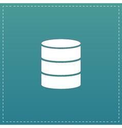 Database flat icon vector