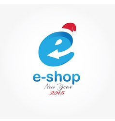 E shop new year design template vector