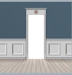 empty room through open door vector image