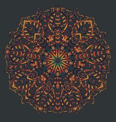 Ethnic mandala design eastern pattern round vector