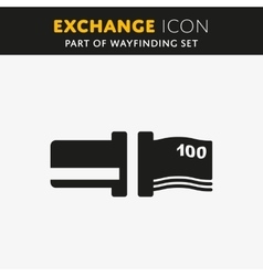 Exchange icon vector image