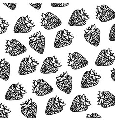 Figure strawberry fruit background icon vector