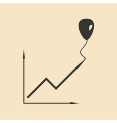 Flat in black white chart and balloon vector