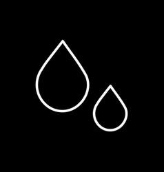 flat line drop icon vector image