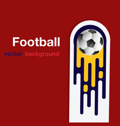 football flying soccer ball red background vector image