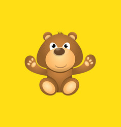Funny and ute teddy bear cartoon character vector