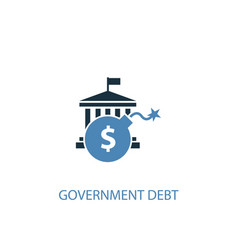 government debt concept 2 colored icon simple vector image