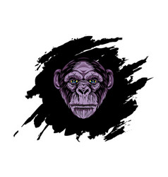 head gorilla with abstract background vector image