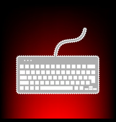 keyboard simple vector image