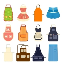 Kitchen apron set vector image