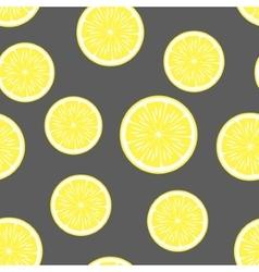 lemon background seamless pattern vector image