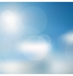 Lights On Blue Background vector image