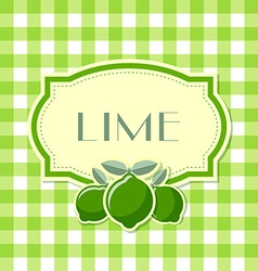 Lime label vector