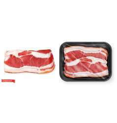 meat fresh steak in the package food 3d realistic vector image