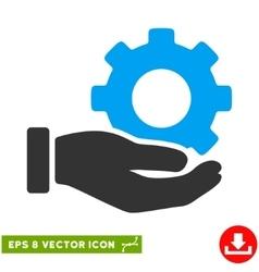 Mechanic Gear Service Hand Eps Icon vector