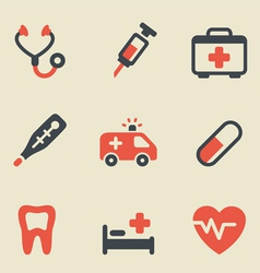 Medical black and red vector image