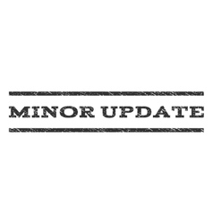 Minor update watermark stamp vector