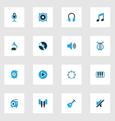 Music colorful icons set collection of play vector