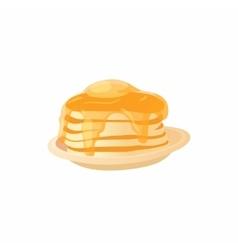 Pancake icon cartoon style vector
