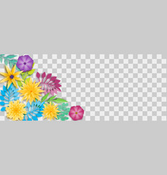 paper origami flower vector image