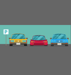 Parking zone element of graphical design flat vector