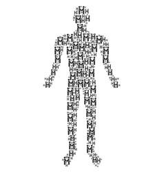 persons handshake man figure vector image