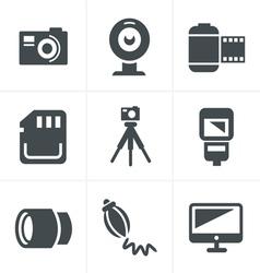 Photography Icons Set Design vector image