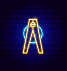 pin neon sign vector image