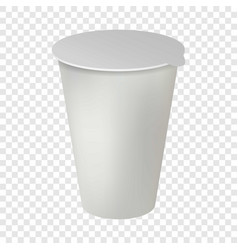 plastic pot mockup realistic style vector image
