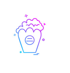 popcorn icon design vector image