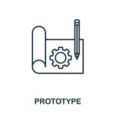 Prototype outline icon thin style design from vector