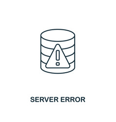 Server error outline icon thin line style from vector