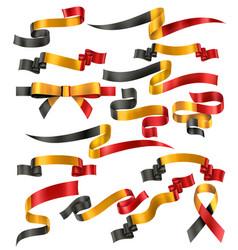 Set belgian ribbons vector
