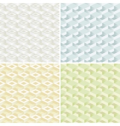 Set of four seamless pattern vector image