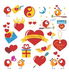 Set Of Valentines Day vector image