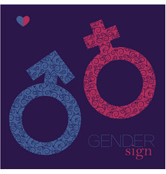 Sex sing gender equality icon man and woman vector