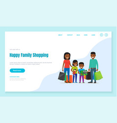 shopping time family purchasing gifts web page vector image