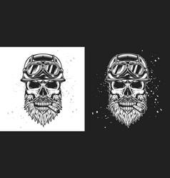 Skull biker 03 vector