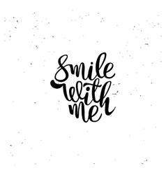 Smile with me element vector image