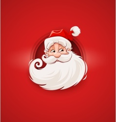 Smiling Santa Claus Christmas vector image
