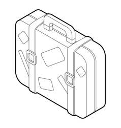 Suitcase icon outline style vector image