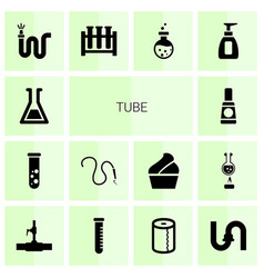 Tube icons vector