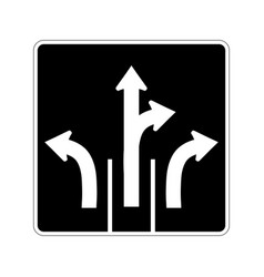usa traffic road signsthese signs tell drivers vector image
