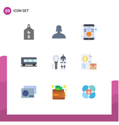 User interface pack 9 basic flat colors vector