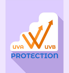 Uva protection logo flat style vector